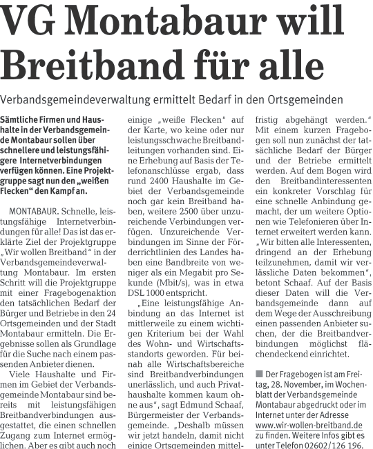 Westerwälder Zeitung 27.11..2008