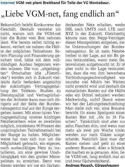 2013-05-24 WWZ Leserbrief